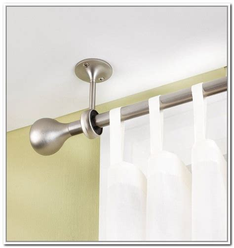 best 20 ceiling mount curtain rods ideas on