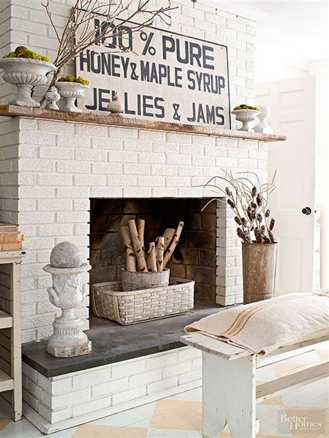 Painted DIY Brick Fireplace Makeover   Better Homes & Gardens