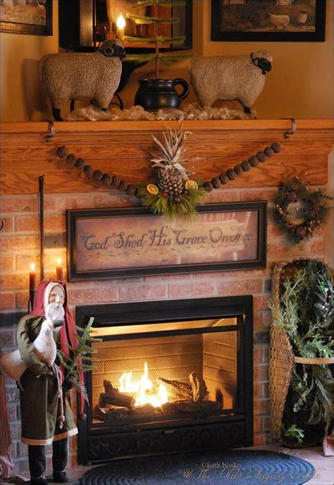 Primitive Decorating Ideas For Fireplace by 169 Best Primitive Fireplaces Images On