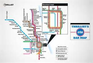 Cta Bar Map Covers Drinkers At Every Rail Station