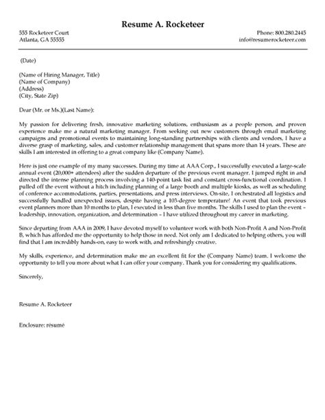 marketing event coordinator cover letter review a cover