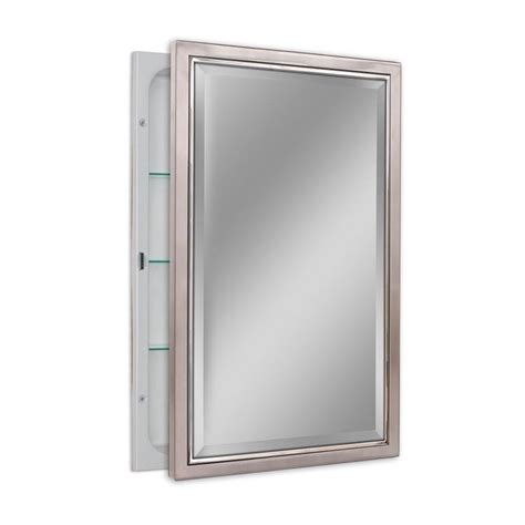 how to frame a medicine cabinet mirror deco mirror 16 in w x 26 in h x 5 in d classic framed