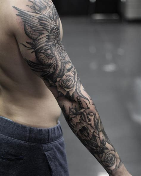 sleeve arm tattoos m 228 nner motive kombinieren tattoos