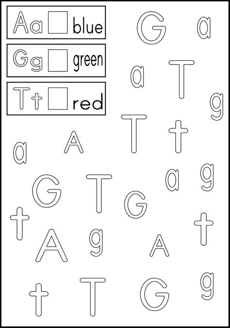 link to letter recognition worksheets color the boxes