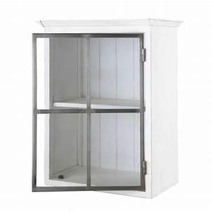 meuble haut de cuisine ouverture gauche en bois recycle l With lovely meuble de cuisine maison du monde 1 cuisine bois metal cuisine interieure