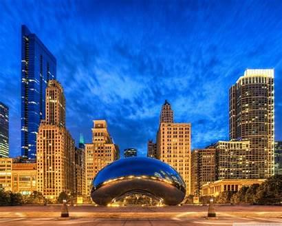 Gate Cloud Chicago Illinois States United Standard
