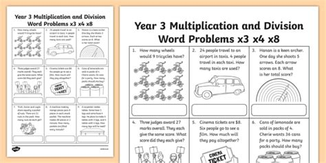grade  multiplication  division word problems