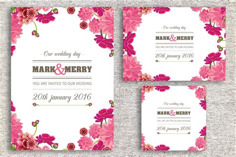 Wedding Invitation Card ~ Wedding Templates ~ Creative Market