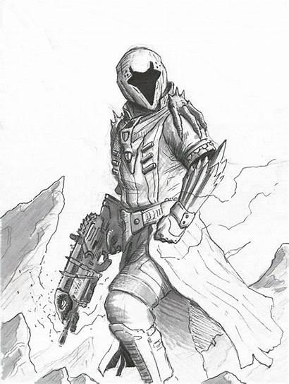 Destiny Warlock Bungie Concept Fan Drawing Drawings