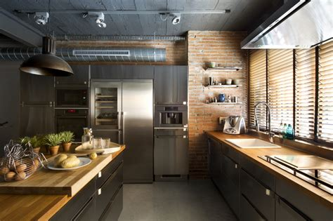 industrial home  interior planting  transparent walls