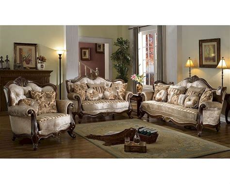 14 Traditional Style Home Decor Ideas That Are Still Cool: Brown Sofa Set In Traditional Style MCFSF8700
