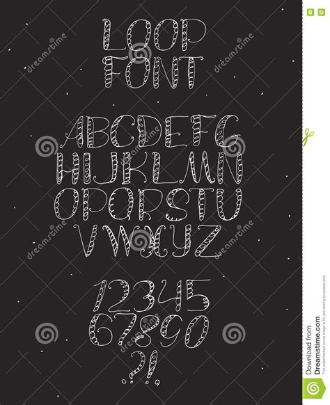 numbers in letters freehand white font with letters from a 49848