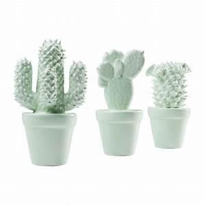 Objet Deco Blanc : d co cactus menthe set de 3 kare design ~ Teatrodelosmanantiales.com Idées de Décoration