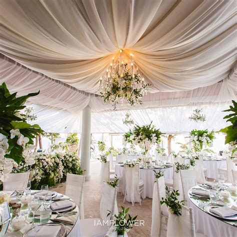 draping for wedding receptions ceiling draping and chandelier with green wedding