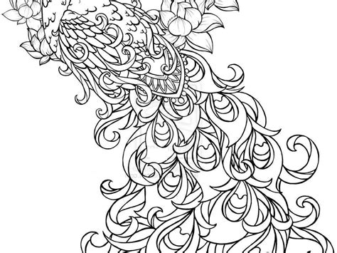 Welcome To Dover Publications Coloring Pages Peacock