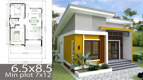 2 bedroom small house plans small home design plan 6 5x8 5m with 2 bedrooms shoas