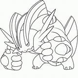 Coloring Pokemon Mega Pages Printable Popular sketch template