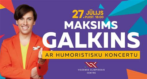 Jau šonedēļ Maksims Galkins uzstāsies Vidzemes Olimpiskā ...