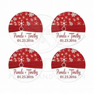 2quot round winter wedding sticker red white snowflakes With kitchen colors with white cabinets with wedding invitation seal stickers