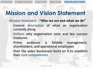 Organisation Structure and Objectives