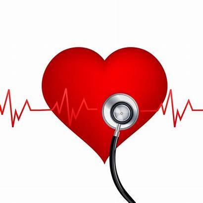 Heart Stethoscope Disease Background Healthy Diabetes Vector