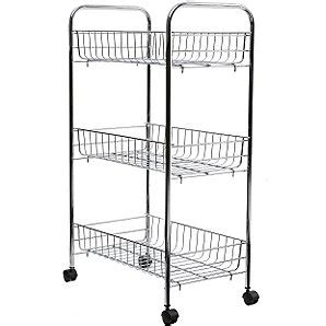 vegetable storage trolley kitchen lewis three tier vegetable trolley review compare 6755