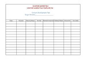 Sales Lead Sheet Template Content Marketing Strategy Templates