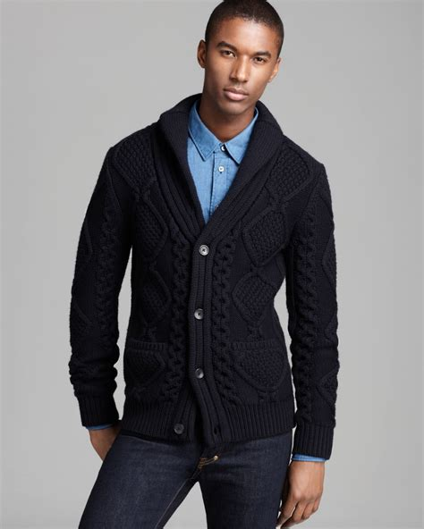mens cardigan sweaters navy elie tahari felix merino cardigan sweater in