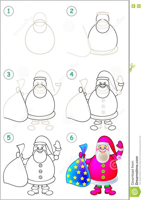 page shows   learn step  step  draw santa claus