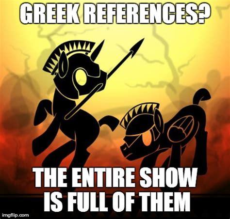 Greek Mythology Memes - greek myth references my little pony friendship is