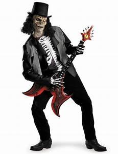 Halloween Skelett Kostüm : skelett rockstar zombie halloween kost m schwarz weiss skelett ~ Lizthompson.info Haus und Dekorationen