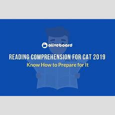 Reading Comprehension For Cat 2019  How To Prepare Oliveboard