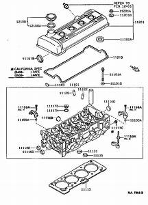 1996 Toyota Corolla Engine Cylinder Head Gasket