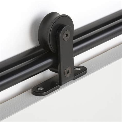 rail coulissant pour porte rail coulissant bolero 2 noir pour porte de largeur 93 cm maximum leroy merlin