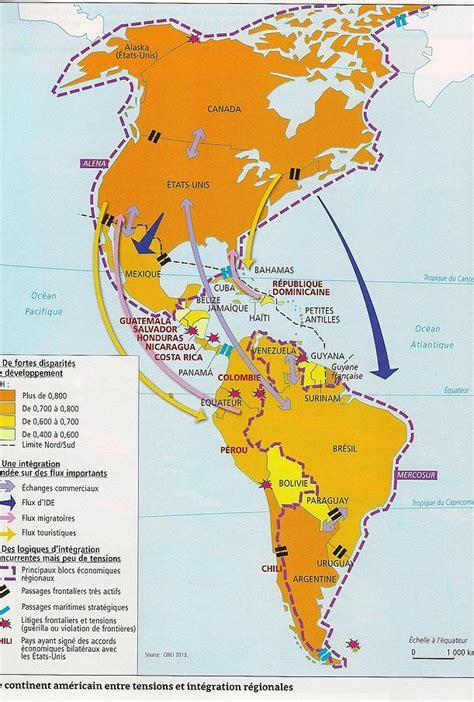 Carte Du Monde Continent Americain by Am 233 Rique Le Monde Contemporain