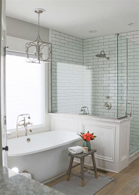 Decorating Ideas For Master Bathroom by 54 Gorgeous Farmhouse Master Bathroom Decorating Ideas