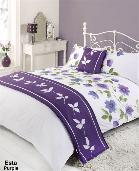 Duvet Quilt Bedding Bed In A Bag Purple Single Double King