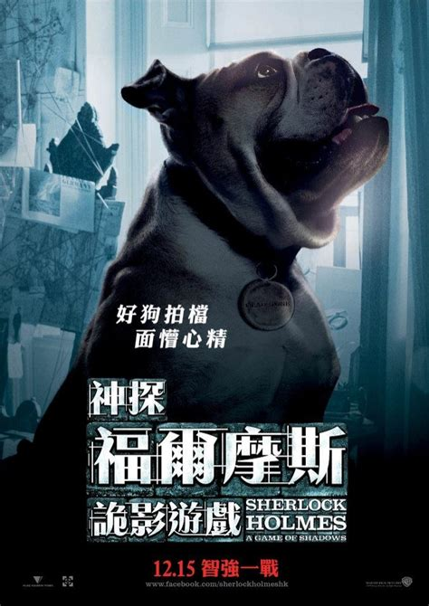 sherlock holmes dog poster gladstone film shadows filme ombres jeu cane game movie chien watson dr promos peta cachorro trailer