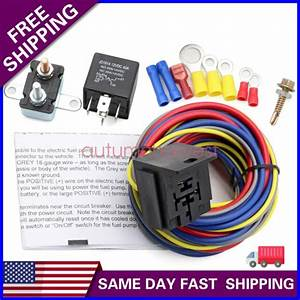 New 40205g Electric Fuel Pump Harness And Relay Wiring Kit