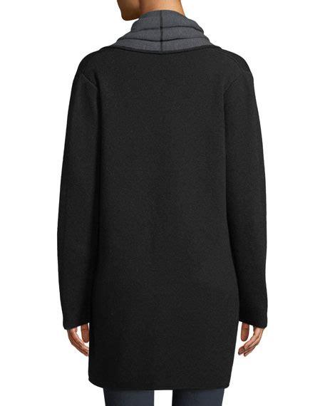Draped Sweater Coat - milly contrast draped cardigan coat
