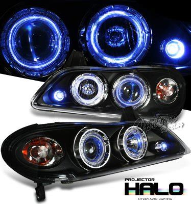 Infiniti I30 2000 2004 Black Halo Projector Headlights