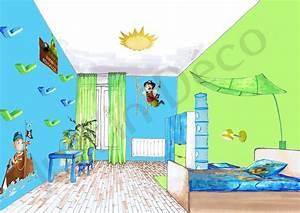 Deco Chambre Garcon 8 Ans : deco chambre garcon theme pirate ~ Teatrodelosmanantiales.com Idées de Décoration