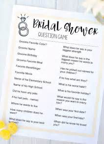 Trivia Questions For Bridal Shower by Bridal Shower Games Fun Squared