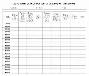 auto maintenance schedule template sample With maintenance schedules templates