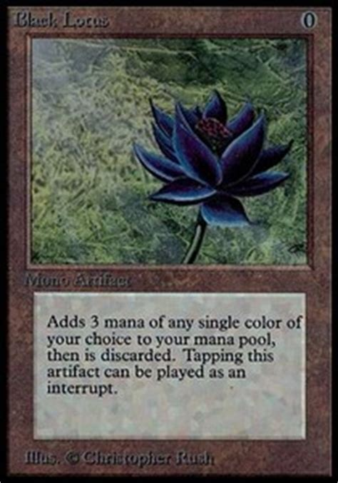 Analyse De La Carte  Black Lotus