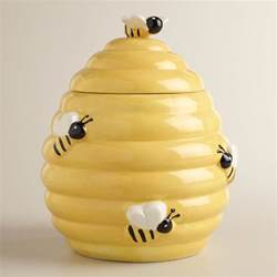 kitchen canisters ceramic beehive cookie jar world market