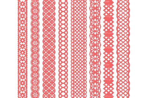 coral lace borders clipart vectors illustrations