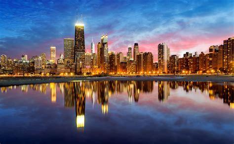 chicago midwest illinois getty cities sunset attractions hancock immagini john york cruise joe daniel building romantic skyline tourist destinations max