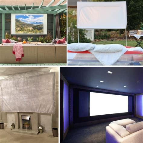 simple diy projector screen ideas   family