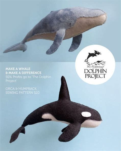 felt humpback  orca whale sewing patterns
